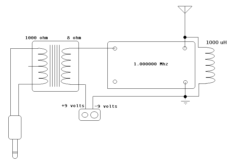 Simple AM transmitter schematic